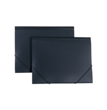 Gumis pólyás mappa, elegáns, A4, fekete, FOLDERMATE