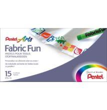 Textilkréta, 15 szín, Fabric Fun, PENTEL