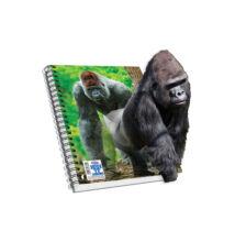 Spirálfüzet, A4, vonalas, 120 lap - Gorilla, SKAG AR