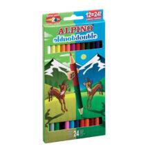 Színes ceruza 12 db-os készlet, dupla, ALPINO