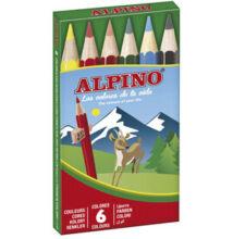 Színes ceruza 6 db-os készlet, rövid, ALPINO