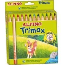 Színes ceruza 12 db-os, vastag, háromszög, ALPINO