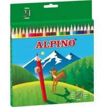 Színes ceruza, 24 db-os készlet, ALPINO