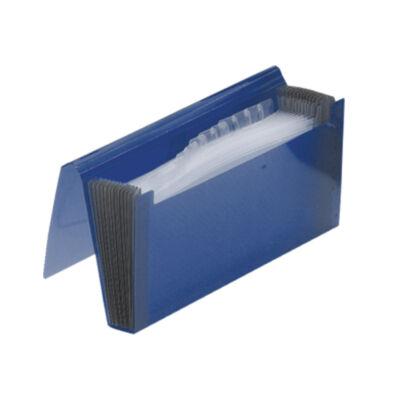 Gumis harmonika mappa, csekk méret, FOLDERMATE - kék