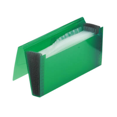 Gumis harmonika mappa, csekk méret, FOLDERMATE - zöld