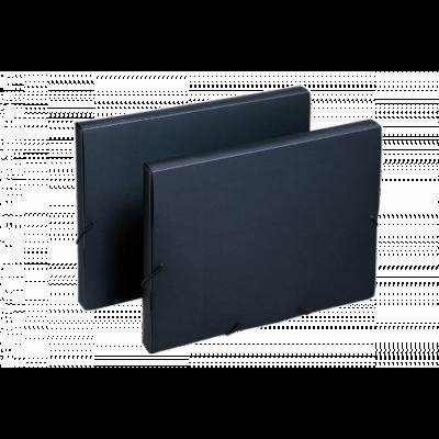Gumis irattartó doboz, elegáns, fekete, FOLDERMATE
