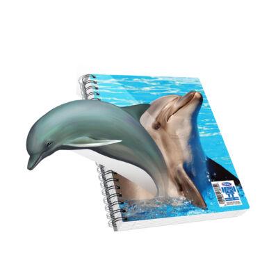 Spirálfüzet, A4, vonalas, 120 lap - Delfin, SKAG AR